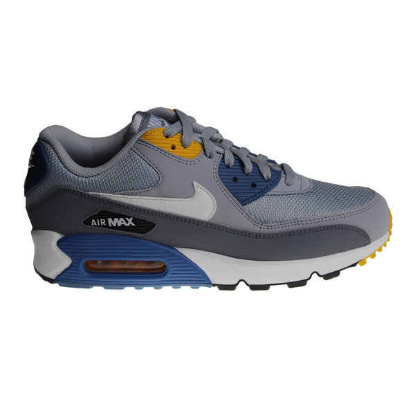 Nike Air Max 90 Essential (Grey/Blue/White/Yellow) AJ1285 016 Men's Sneakers
