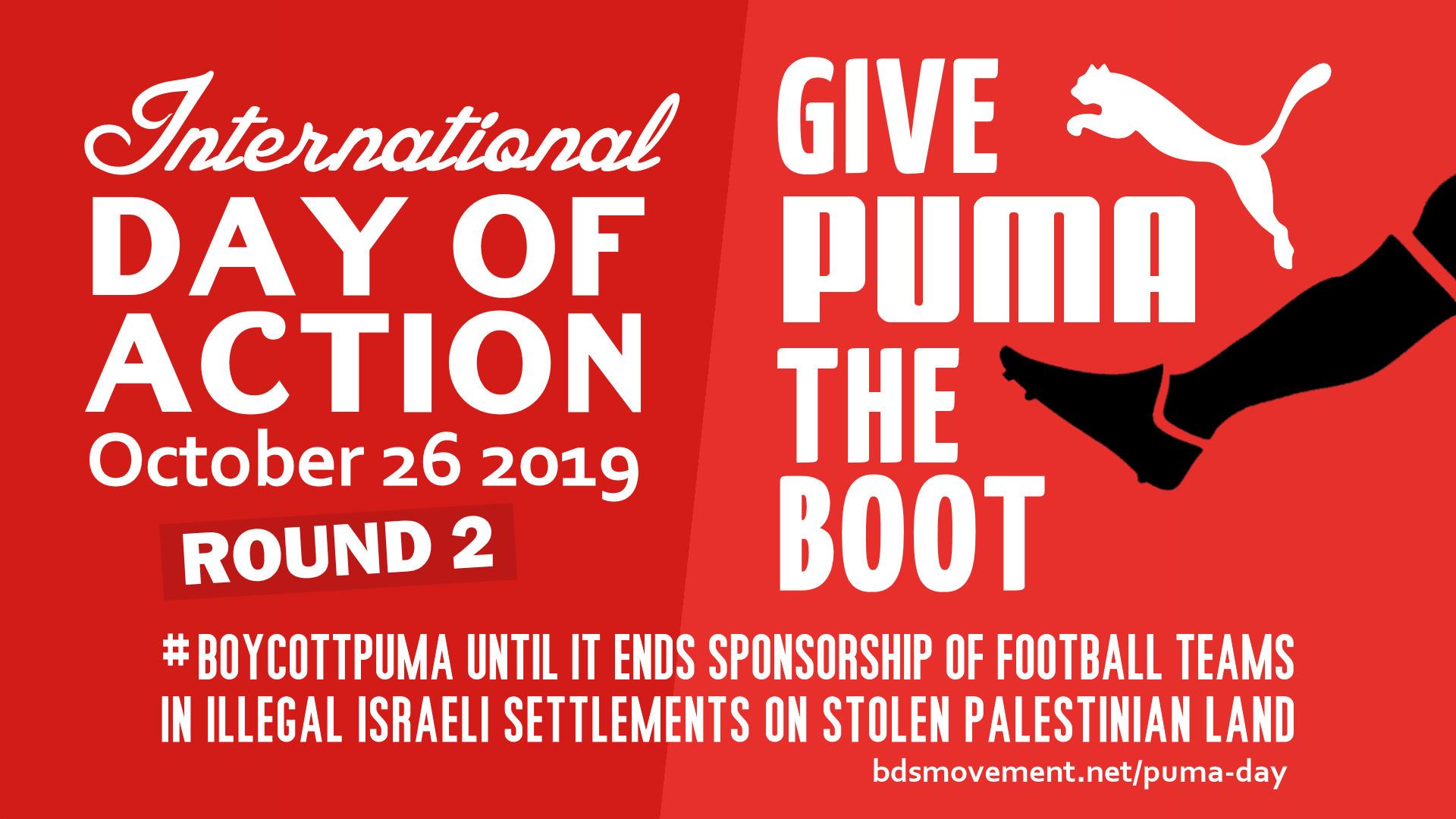 Puma boycot mailactie!