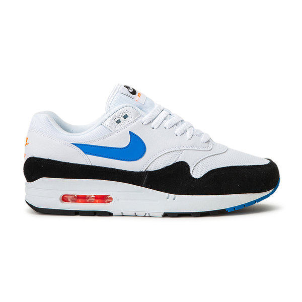 Nike Air Max 1 (White/Blue/Black/Orange/Red) AH8145 112 Men's Sneakers