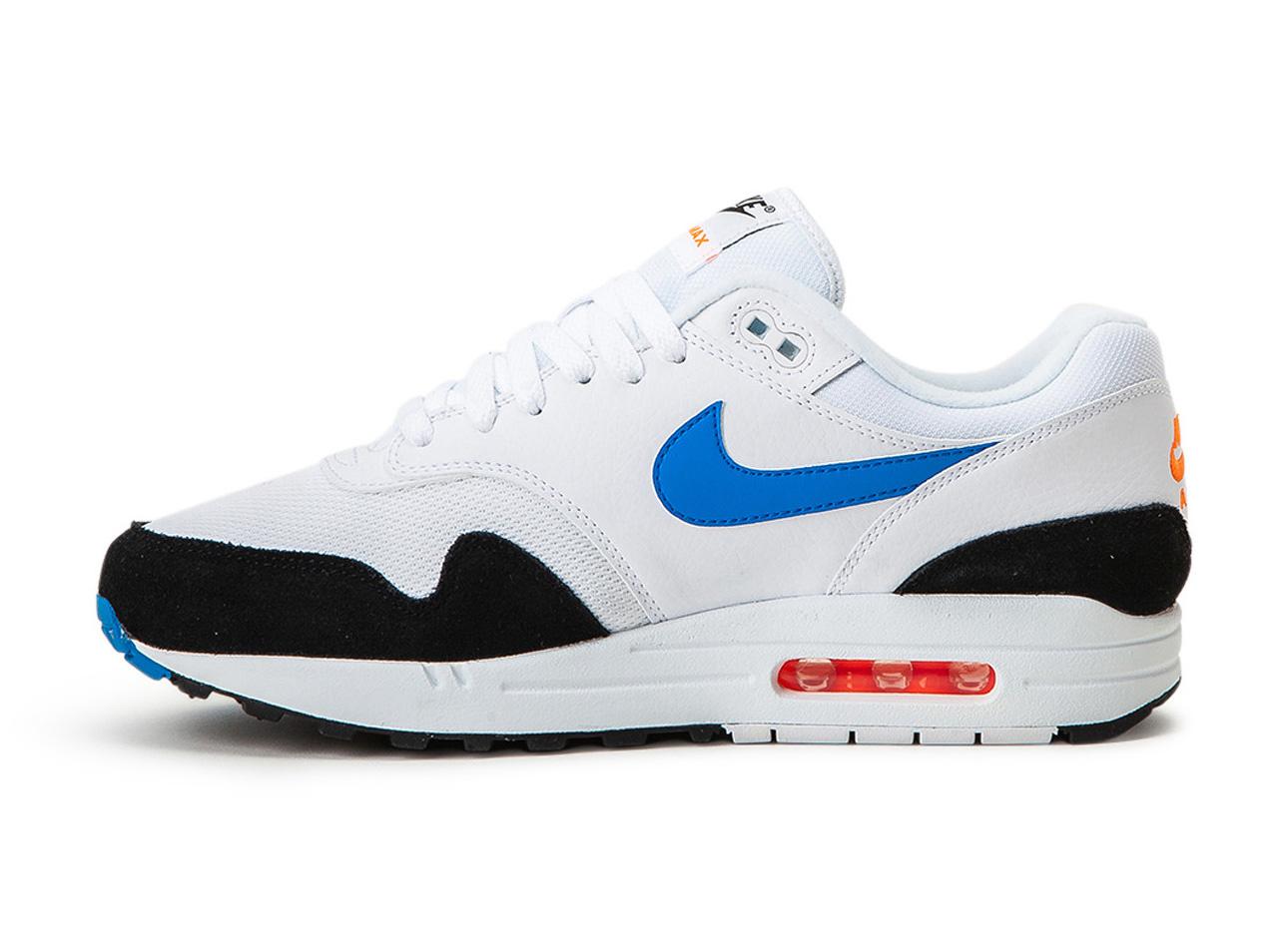 Nike Air Max 1 (WhiteBlueBlackOrangeRed) AH8145 112 Men's Sneakers