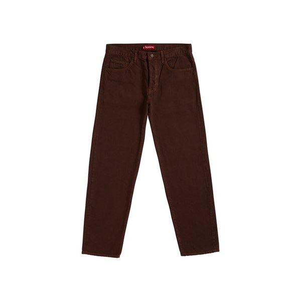 """Supreme Washed Regular Jean (SS19) """"Washed Brown"""" SUP-WARJBRN Men's Jeans"""