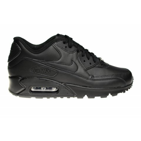 42ea4c5da263ce Nike Air Max 90 Leather 302519 001 All Leather Black
