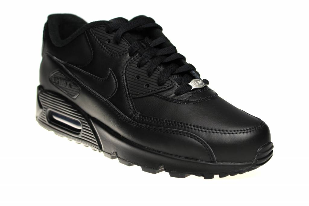 e9e6f4782e Nike Air Max 90 Leather 302519 001 All Leather Black | Sneakerpaleis