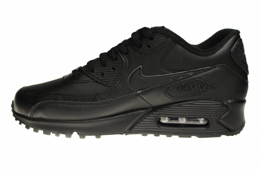 best website 7db97 849aa Nike Air Max 90 Leather 302519 001 Geheel Zwart Leer | Sneakerpaleis