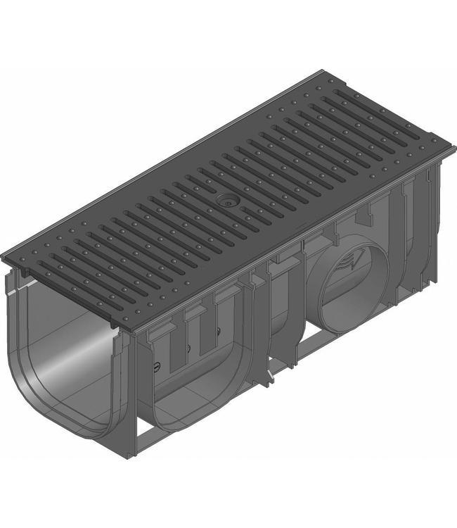 Hauraton Afvoergoot Recyfix Standaard 150 type 0105, l=0,5m, Gietijzer sleuvenrooster klasse C, 250KN