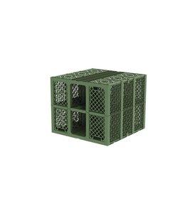 Frankische PP infiltratiekrat Rigofill inspect, 422l, geschikt voor vrachtauto's. Groen, lxbxh=800x800x660mm