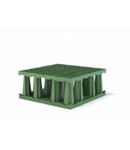 Frankische PP infiltratiekrat Rigofill ST half blok. Groen, lxbxh=800x800x350mm, 224l