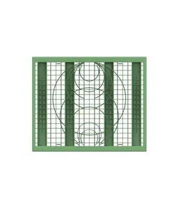 Frankische PP zijwandrooster Rigofill ST. Groen, lxbxd=800x660x30mm