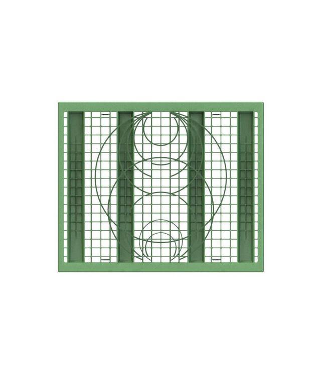 PP zijwandrooster Rigofill ST. Groen, lxbxd=800x660x30mm