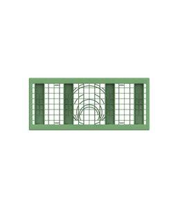 PP zijwandrooster Rigofill ST half blok. Groen, lxbxd=800x350x30mm
