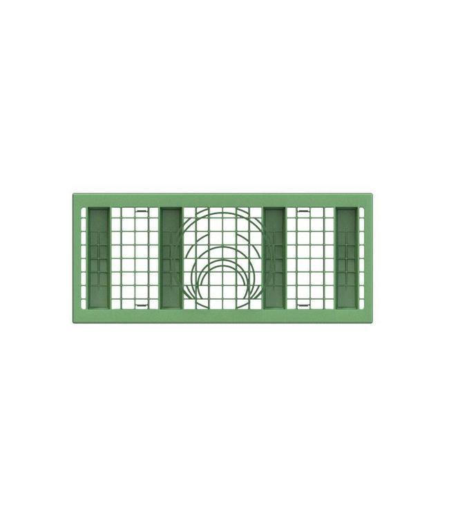 Frankische PP zijwandrooster Rigofill ST half blok. Groen, lxbxd=800x350x30mm