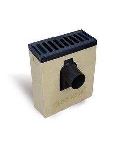 ACO Polymeerbetonnen lijnkolk Multipoint K200KV. Spie 160mm voor, Retro rooster vlak, h=535mm