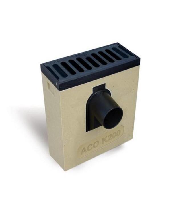 ACO Polymerbeton Linie Buttern Mehr K200LSVA retro Gitter, Keil 160 mm, 2-teilig