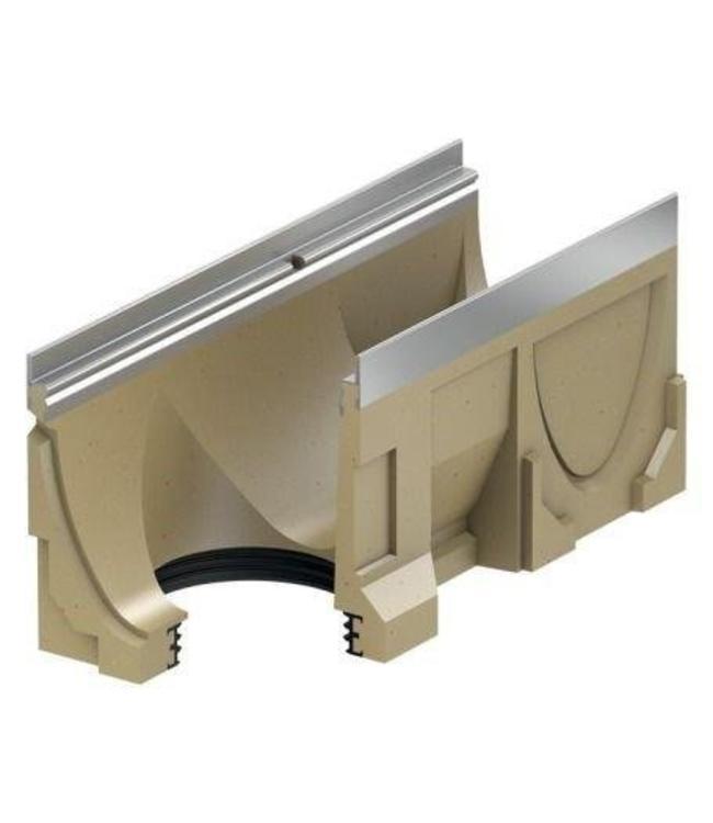 ACO Aco Ablaufrinne Multi V100S Stahltyp Edelstahl 10,2 l = 0,5 m, Bodenablauf