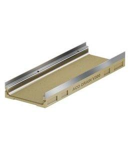 ACO Afvoergoot Multiline HV300E RVS type 120, lxbxh=1000x350x120mm, rvs randprofiel