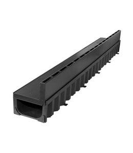 ACO Slotline afvoergoot, zwart kunststof sleufopzetstuk, l=1m, excentrisch