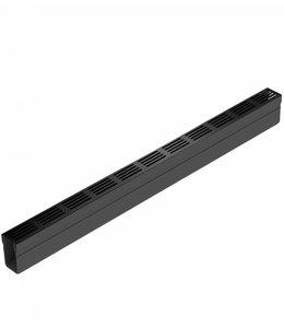 ACO Aco Slimline afvoergoot met zwart aluminium designrooster