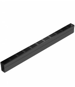 ACO Slimline afvoergoot met zwart aluminium designrooster