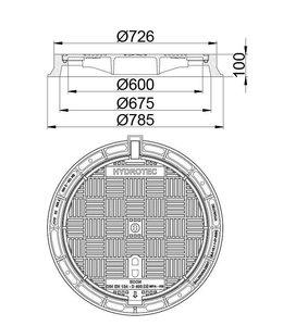 HYDROTEC Putafdekking ECON 600, h=100mm, klasse D, 400KN