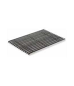 ACO Tapijtstroken tbv schoonloper onderbak, 750x500mm. Aluminium, antraciet
