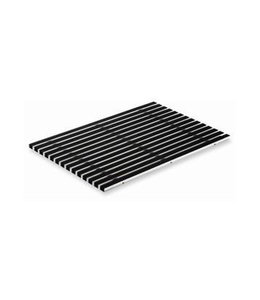 ACO Rubberstroken tbv schoonloper, voetenschraper onderbak, 600x400mm. Aluminium, zwart