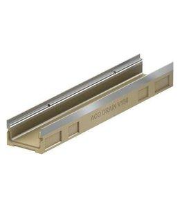 ACO Afvoergoot Multiline HV150S type 120.110, l=1m, onderafvoer. Verzinktstaal randprofiel