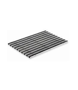 ACO Tapijt- en borstelstroken tbv schoonloper, voetenschraper onderbak, 600x400mm. Aluminium, antraciet
