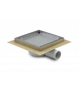 Aquaberg Kunststoff Bodenablauf inklusive Abdeckung für Fliese, Typ 401615, 150x150mm