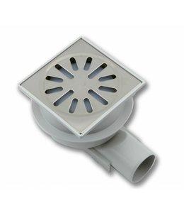 Aquaberg Kunststof vloerput type 4240, 100x100mm, zij-uitlaat 40mm