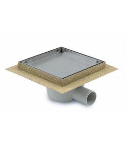 Aquaberg Kunststoff Bodenablauf inklusive Abdeckung für Fliese, Typ 431615, 150x150mm