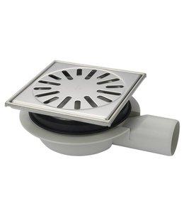 Aquaberg Kunststof vloerput type 4416, 150x150mm, zij-uitlaat 50mm