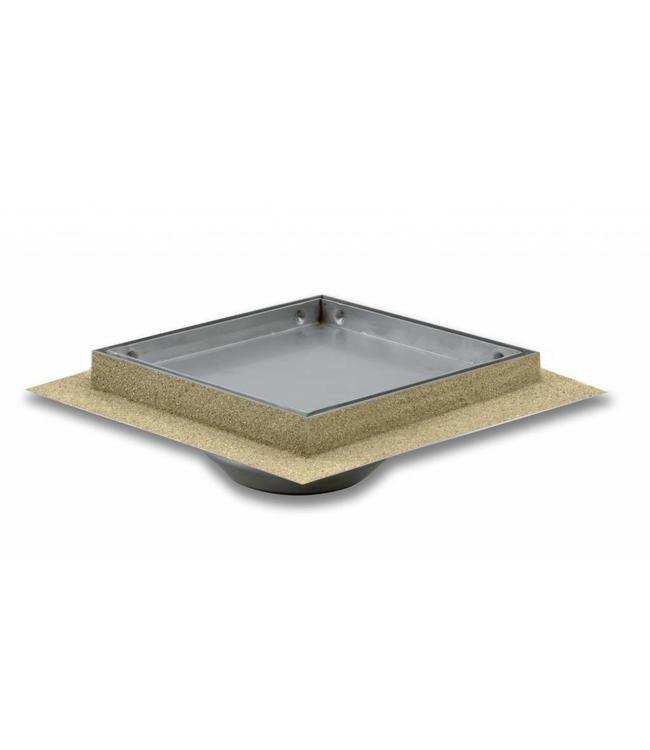 Aquaberg Edelstahl Bodenablauf inklusive Abdeckung für Fliese, Typ 481515, 150x150mm