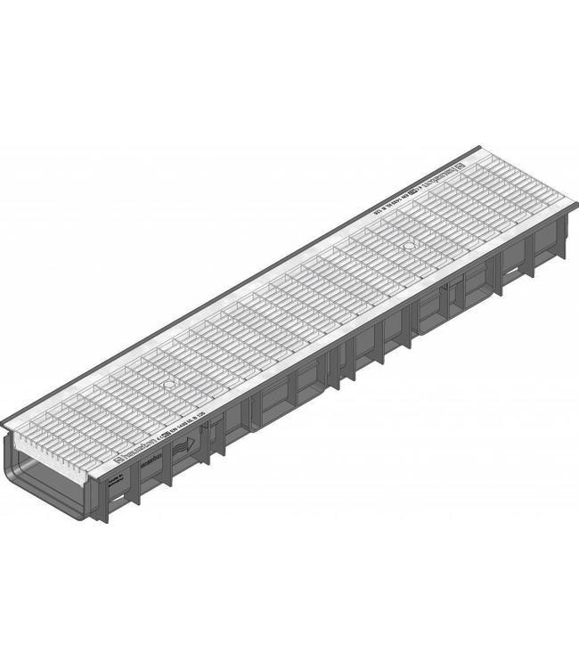 Hauraton Afvoergoot Recyfix Standaard 150 type 100, l=1m, verzinktstalen mazenrooster klasse B/125KN