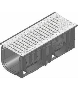 Hauraton Afvoergoot Recyfix Standaard 150 type 0105, l=0,5m, verzinktstalen sleuvenrooster klasse A/15KN
