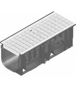 Hauraton Afvoergoot Recyfix Standaard 150 type 0105, l=0,5m, verzinktstalen mazenrooster klasse B/125KN