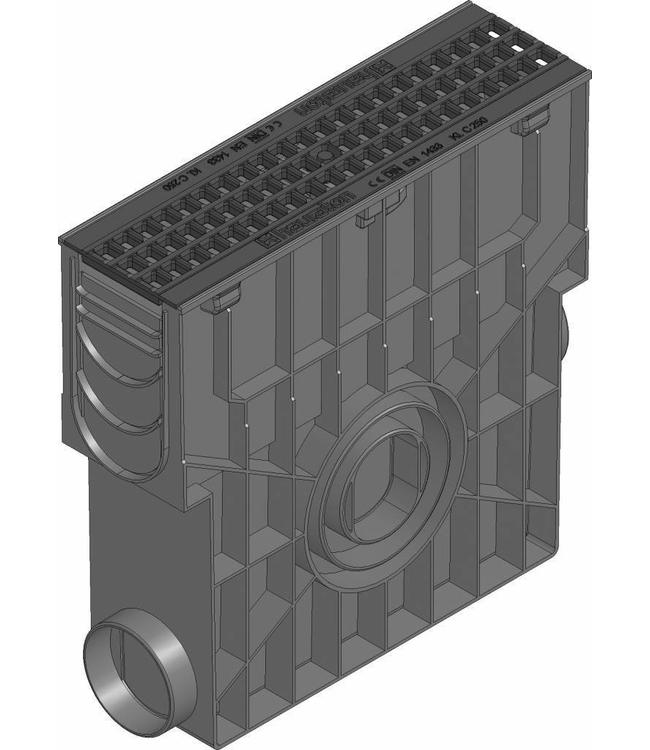 Hauraton Sandfang RECYFIX Standard 100, l = 0,5m, Eisen Mesh-Gitter der Klasse C / 250kN