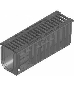 Hauraton Afvoergoot Recyfix Standaard 100 type 01005, l=0,5m, Gietijzer sleuvenrooster klasse C, 250KN