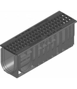 Hauraton Afvoergoot Recyfix Standaard 100 type 01005, l=0,5m, Gietijzer maasrooster klasse C, 250KN