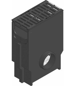 Hauraton Zandvanger Recyfix Standaard 200, l=0,5m, Gietijzer sleuvenrooster klasse C, 250KN