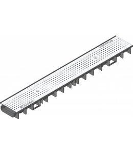Hauraton Afvoergoot Recyfix Standaard 100 type 60, l=1m, RVS perforooster klasse A, 15KN