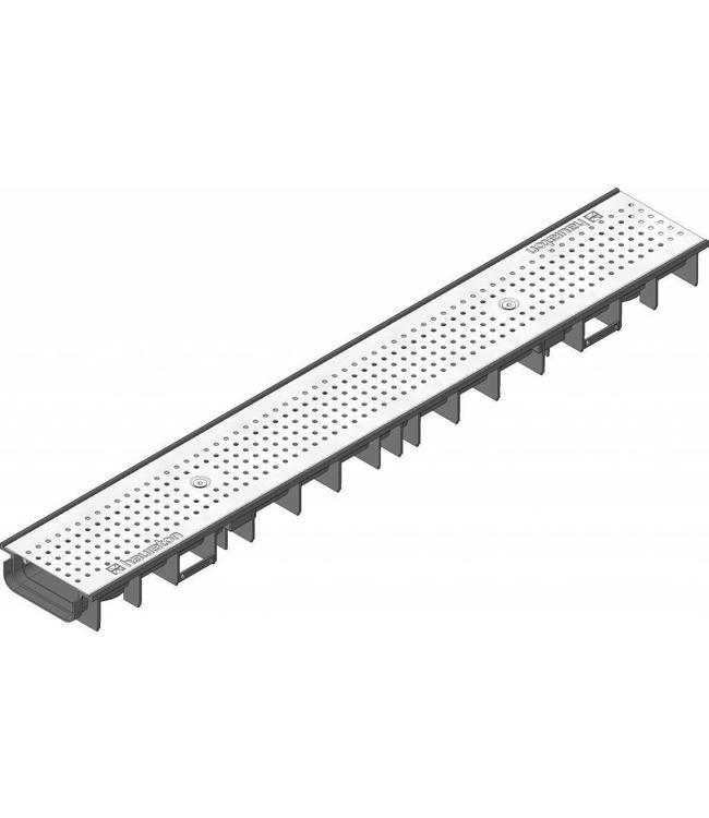 Hauraton Ablaufrinne RECYFIX Standard 100 Typ 60, l = 1 m, Edelstahl-Lochgitter Klasse A / 15 Kn