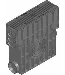 Hauraton Zandvanger Recyfix Standaard 100, l=0,5m, Gietijzer sleuvenrooster klasse C, 250KN
