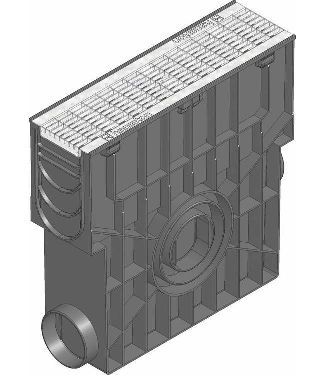Hauraton Sandfang RECYFIX Standard 10, l = 0,5 m, verzinkte Stahlgittergrill, Klasse B / 125kN