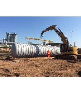 Intewa Ondergrondse buffertank, opslagtank 100.000l. GVK, geschikt voor zwaar verkeer SLW 60