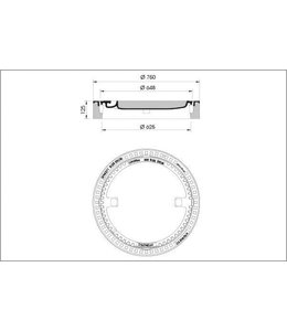 Abdeckung ECO 610, h = 125mm, Klasse B, 125KN