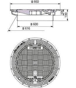 HYDROTEC Putafdekking ECON 600, h=300mm, zelflevel, klasse D, 400KN