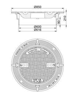 HYDROTEC Putafdekking TITONpur 600, h=210mm, zelflevel, klasse D, 400KN