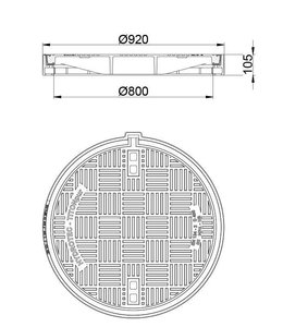 HYDROTEC Putafdekking TITONpur 800, h=105mm, zelflevel, klasse D, 400KN