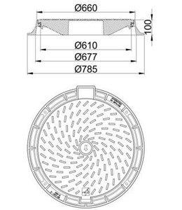 HYDROTEC Putafdekking RICON 600, h=100mm