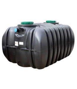 Diederen HDPE Klärgrube 4000l. Ausgestattet mit 2 Schächten 400mm